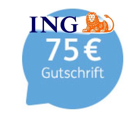 75€ Gutschrift beim Depotübertrag (>4.000€) zur ING