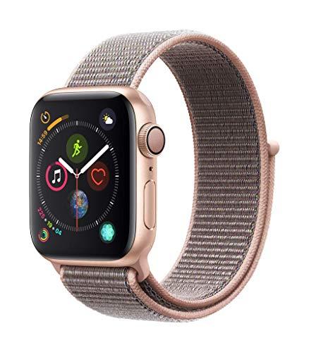 Apple Watch Series 4 GPS 40mm Aluminium Gold mit Sport Loop für 371,14€ inkl. Versandkosten