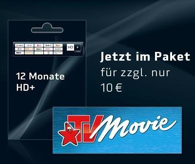 HD+ Verlängern und für 10€ 1 Jahr TV Movie oder Digital XXL buchen