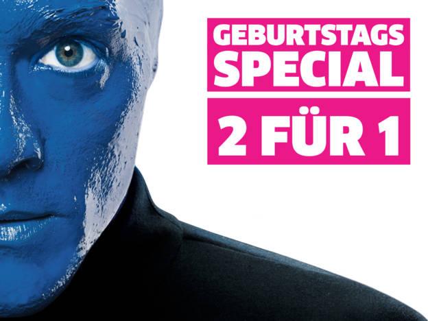 [Berlin] Blue Man Group - bis 30.4.19 beim Kauf eines Tickets zweite Eintrittskarte kostenlos !