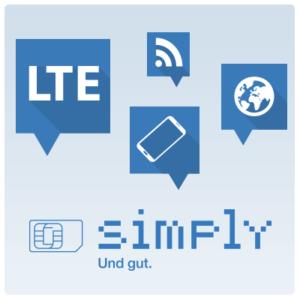 Monatlich kündbare Simply Tarife ohne Anschlussgebühr: z.B. 3GB (7,99€) oder 5GB (12,99€) im Telefonica-Netz