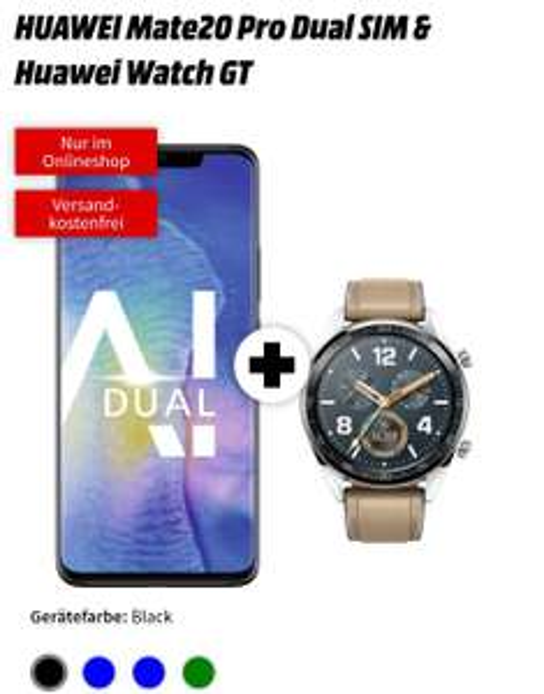 Huawei Mate 20 pro dual sim + Huawei Watch GT mit MD Vodafone 4gb LTE (monatlich 31,99)