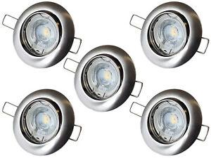 [Ebay] 5er Set Philips Einbaustrahler inkl McShine LED | Deckenspot Leuchte RUND (auch dimmbar)