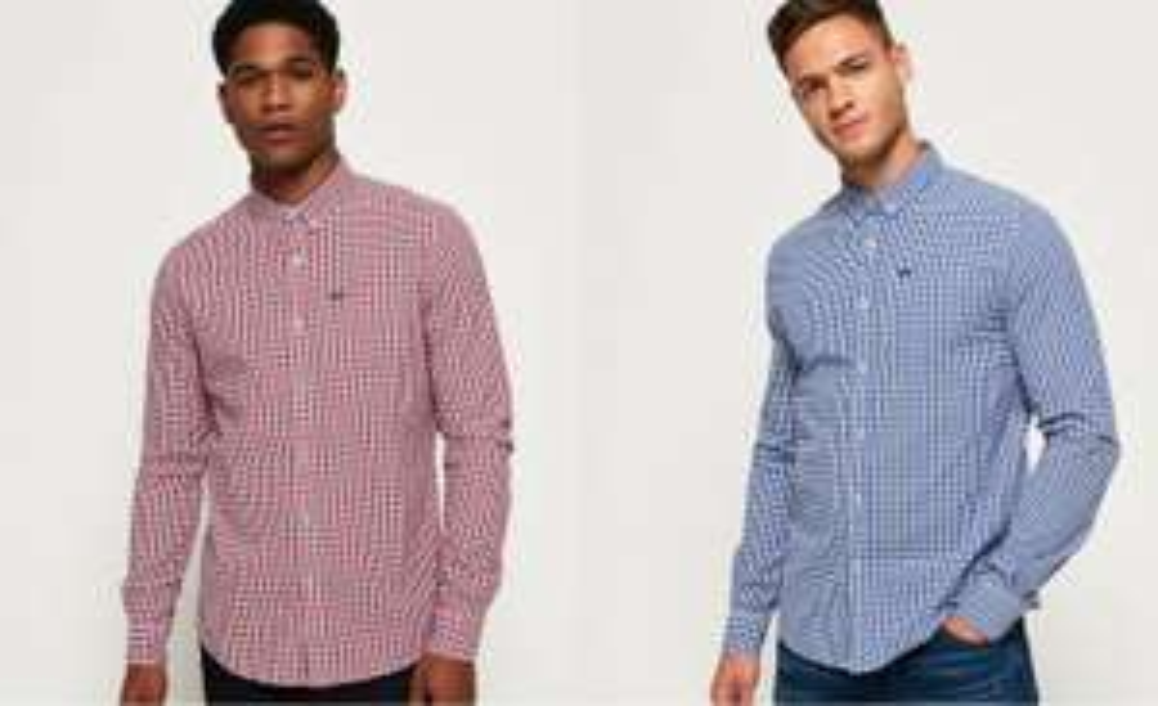 Supderdry Langarm Hemden in div. Farben und Größen mit Button-Down