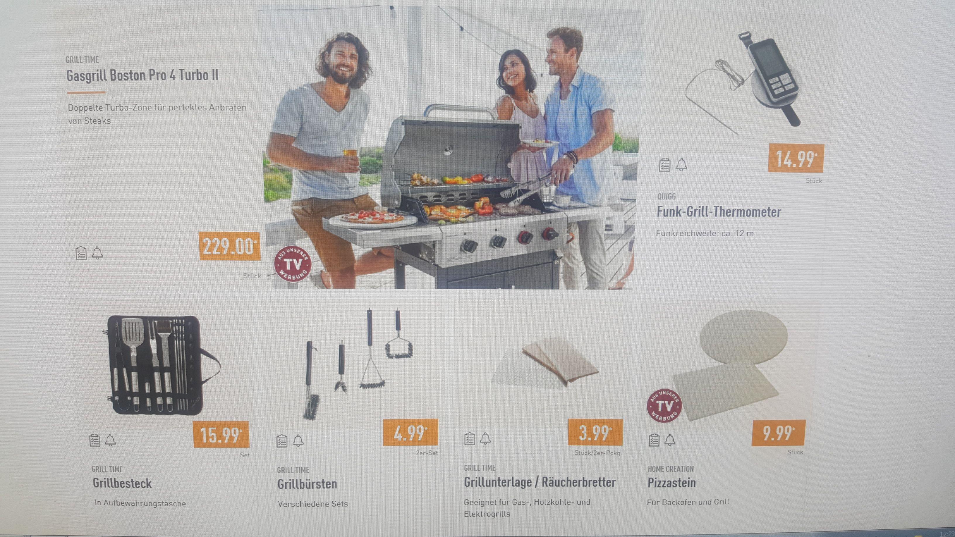 Grill Time bei Aldi (Nord+Süd) / z. B. Räucherbretter für 3,99 oder Grillbürsten für 4,99