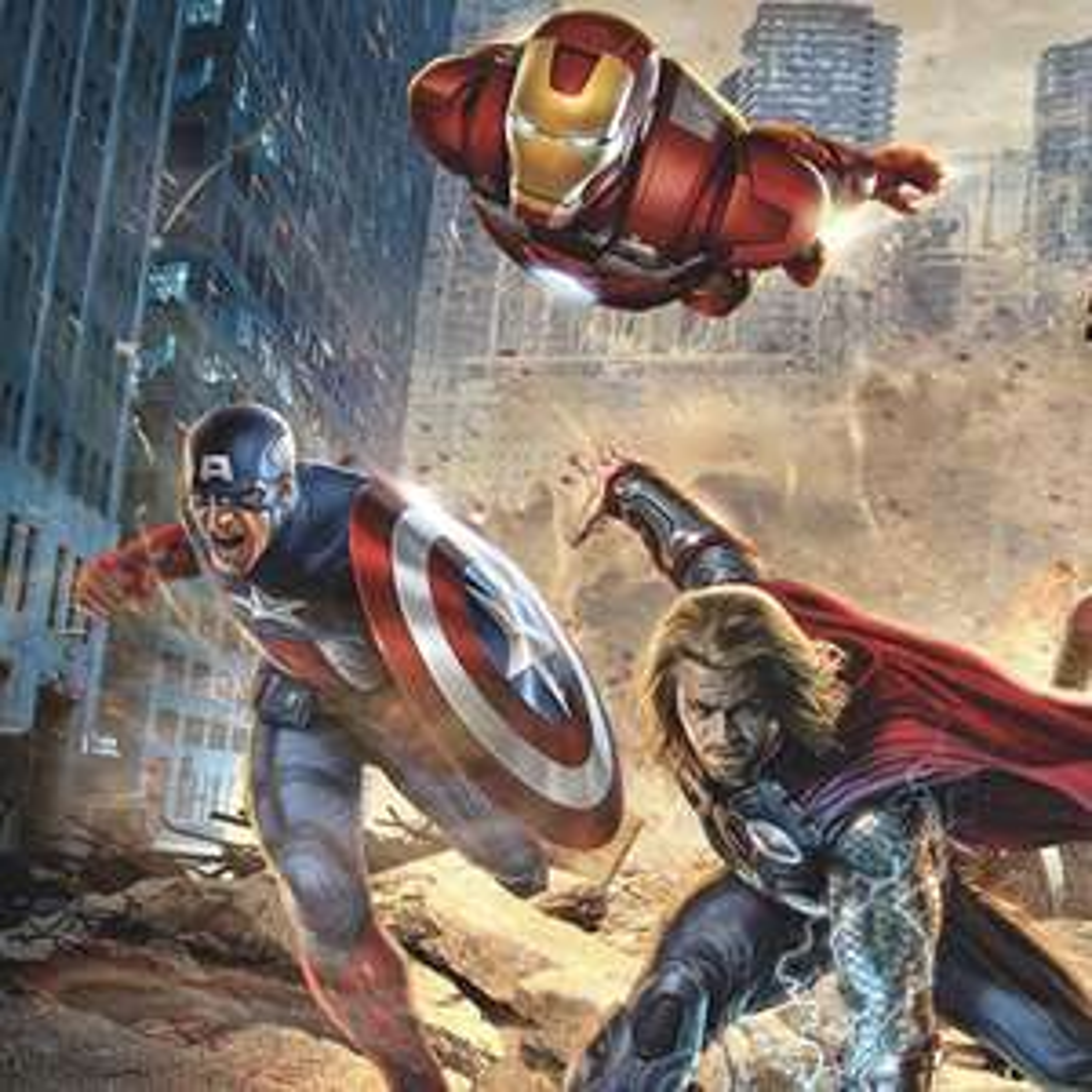 Marvel Vlies Fototapeten - Bestpreis z.B. AVENGERS VINTAGE COMIC - 400 x 250 cm - Infinity War - 046-DVD4