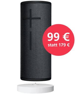 UE Boom 3 Ultimate Ears + Power UP Station Bluetooth Speaker (night black)