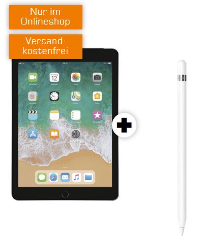 Apple iPad 2018 (128GB, LTE) inkl. Pencil für mtl. 29,99€ mit Mobilcom Internet Flat (Vodafone 12GB LTE oder Telekom 10GB LTE)