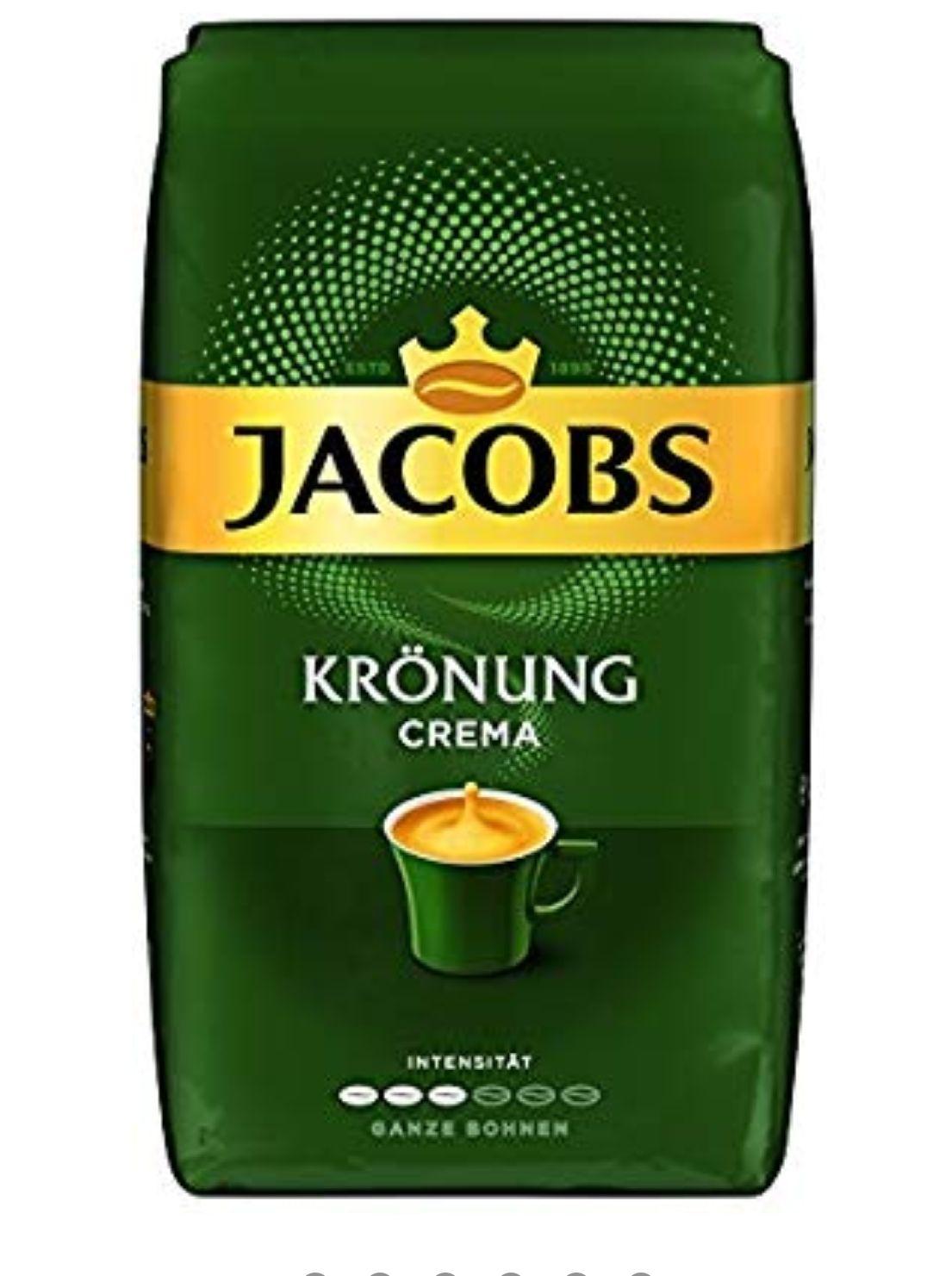 Jacobs Krönung Crema, Kaffee Ganze Bohne, 1 kg Amazon Prime