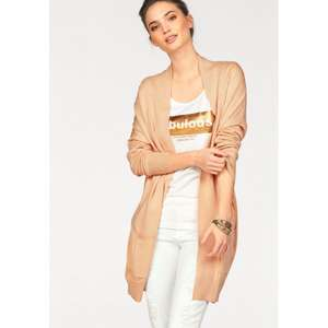 Laura Scott Damen oversized Longstrickjacke in apricot