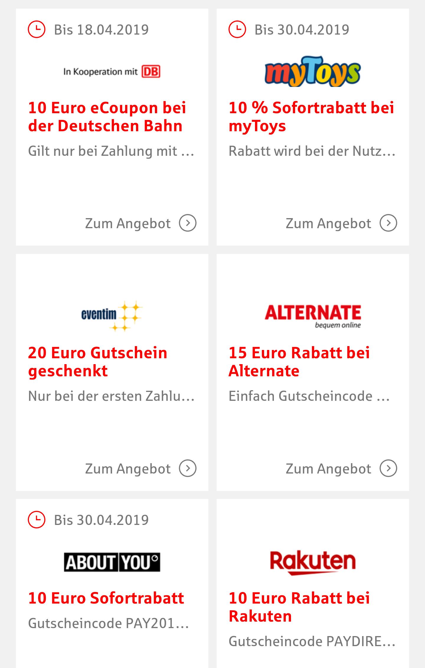 Paydirekt Gutscheine bei allen teilnehmenden Banken