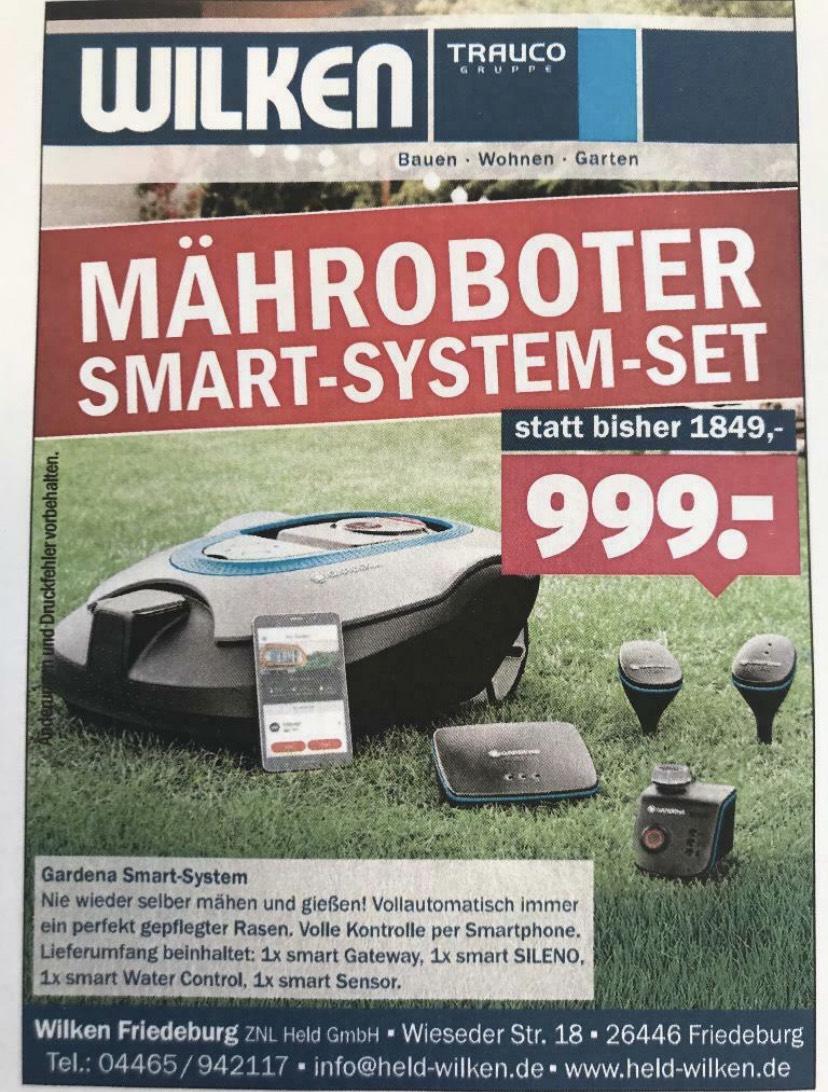 Gardena Sileno Smart System 1000 qm inkl. Smart Sensor und Water Control (Mit Cashback nur 899€) (deutschlandweiter Versand)