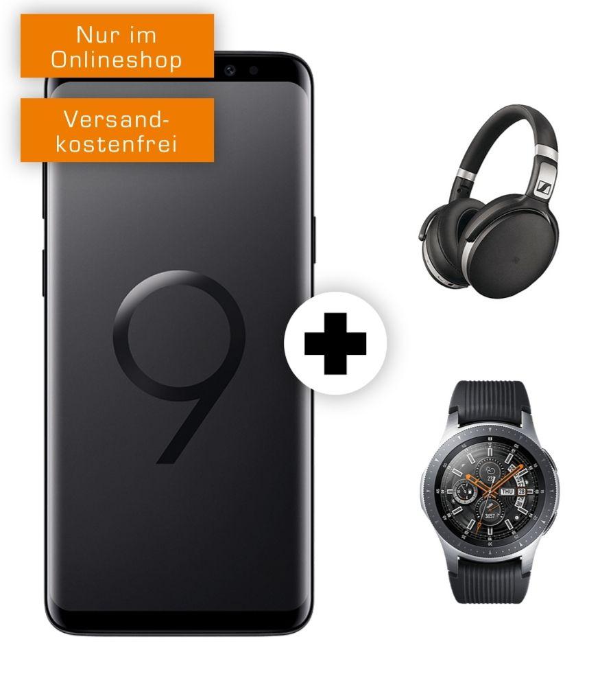 Samsung Galaxy S9 | Watch 46mm BT | Kopfhörer Sennheiser HD 4.50 im MD Vodafone (4GB LTE, Allnet) mtl. 31,99€ oder O2 M Boost 34,99€ mtl.