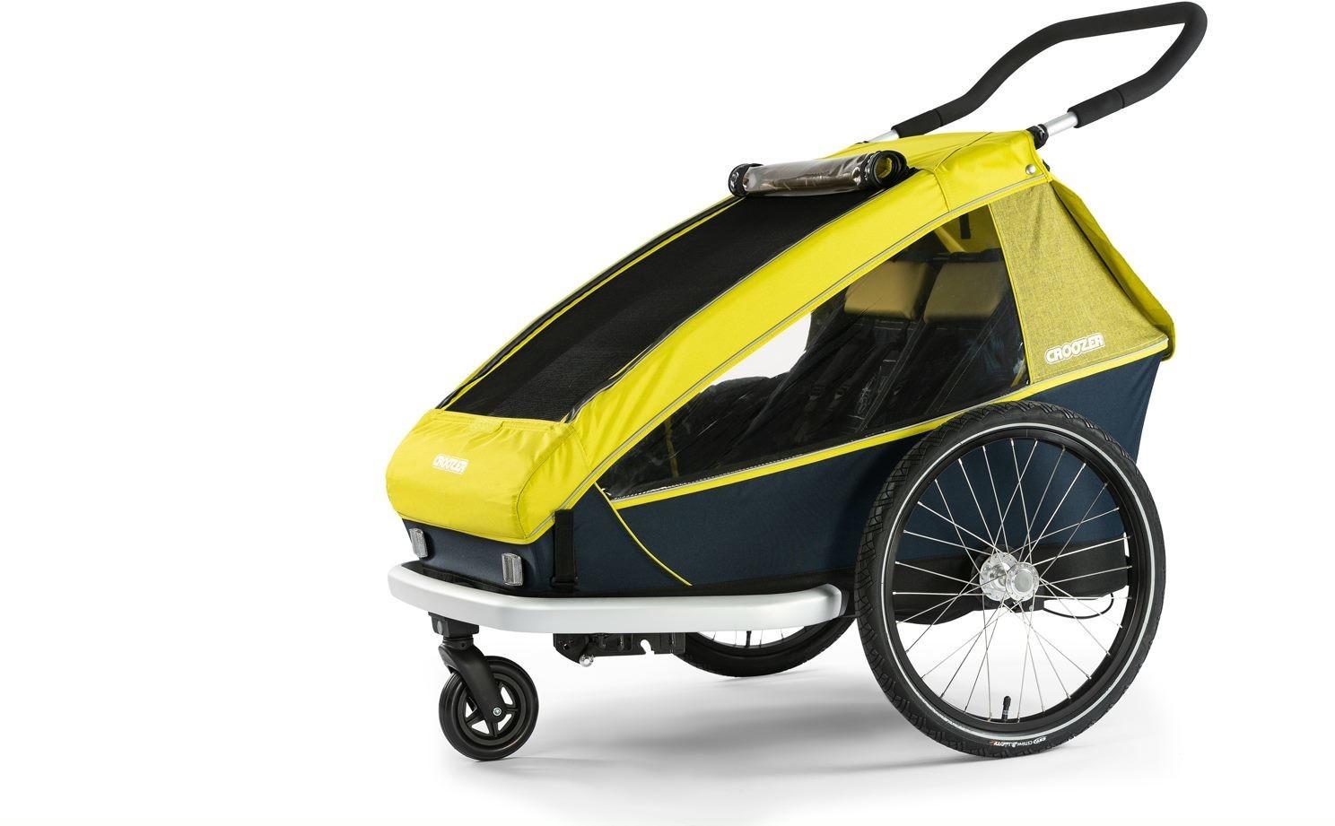 Croozer Kid for 2 2019 lemon green für 574,99€ inkl Versand | Fahrradanhänger, Jogger und Buggy in einem für 2 Kids