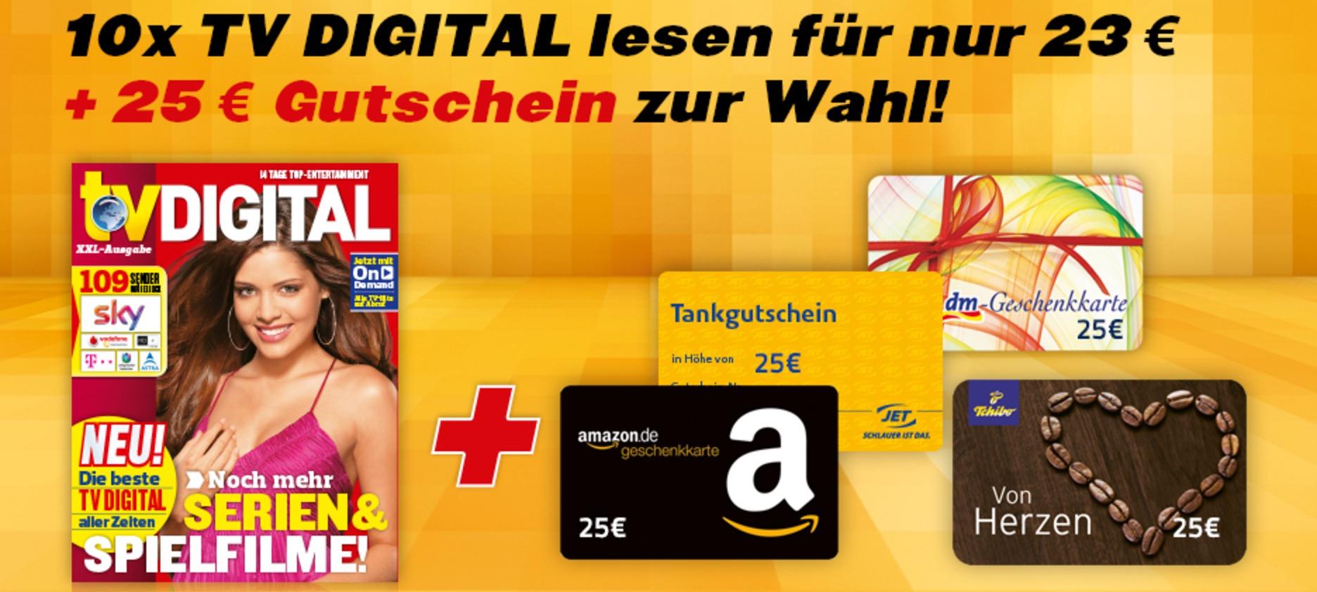 [Questler] TV Digital XXL Abo + 20 EUR Gutschein (z.B. Amazon) + 8 EUR
