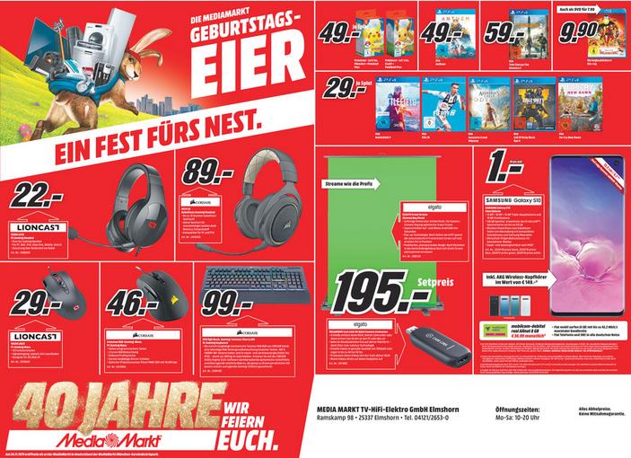 Lokale Gamingwerbung in Elmshorn MediaMarkt - verschiedenes bis zu 42 % unter Idealo