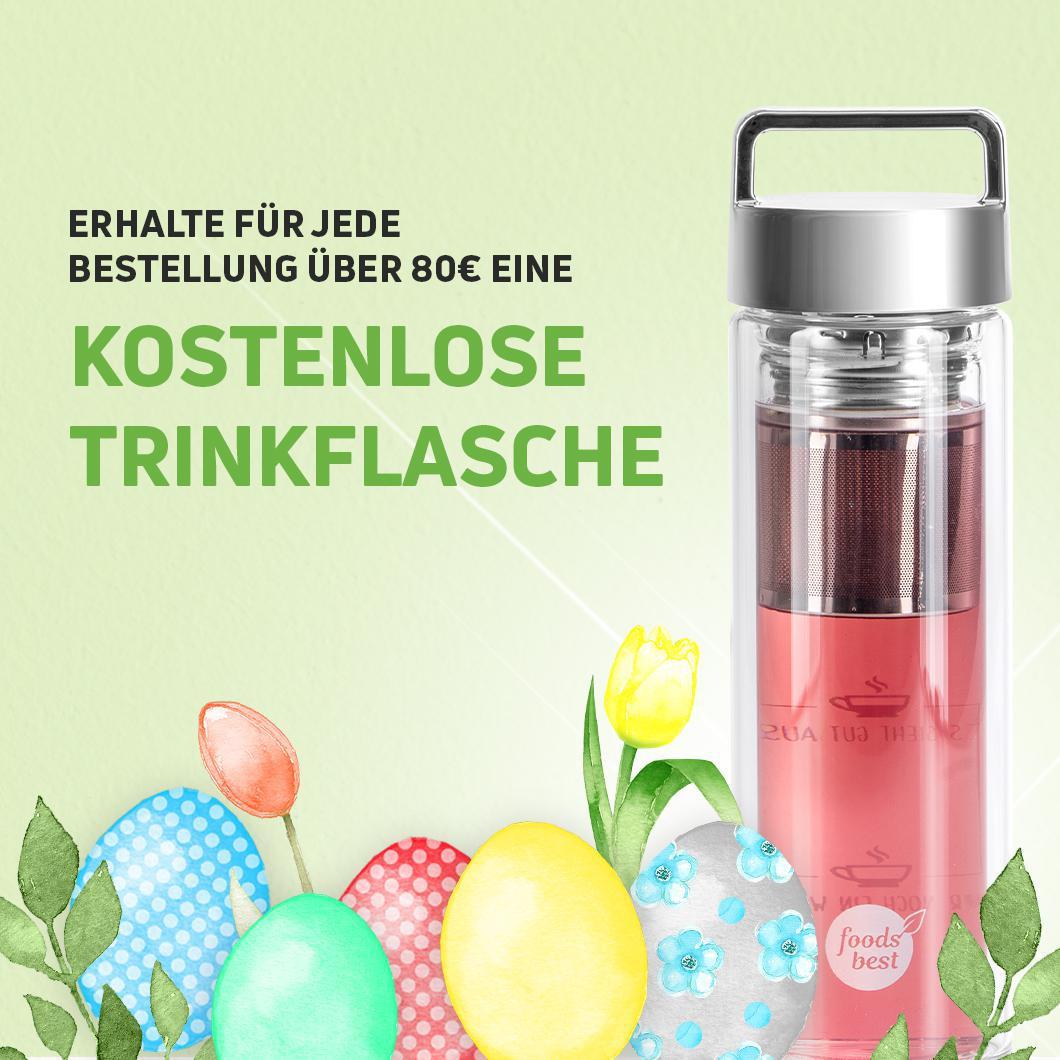 Gratis Teeflasche zum Mitnehmen bei foodsbest (MBW 80€)
