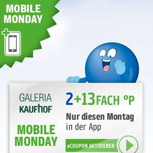 Mobile Monday: 15-fach Payback Punkte bei Galeria Kaufhof am 10.06.