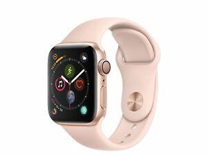 Apple Watch Series 4, 40 mm, Aluminiumgehäuse gold, Sportarmband sandrosa