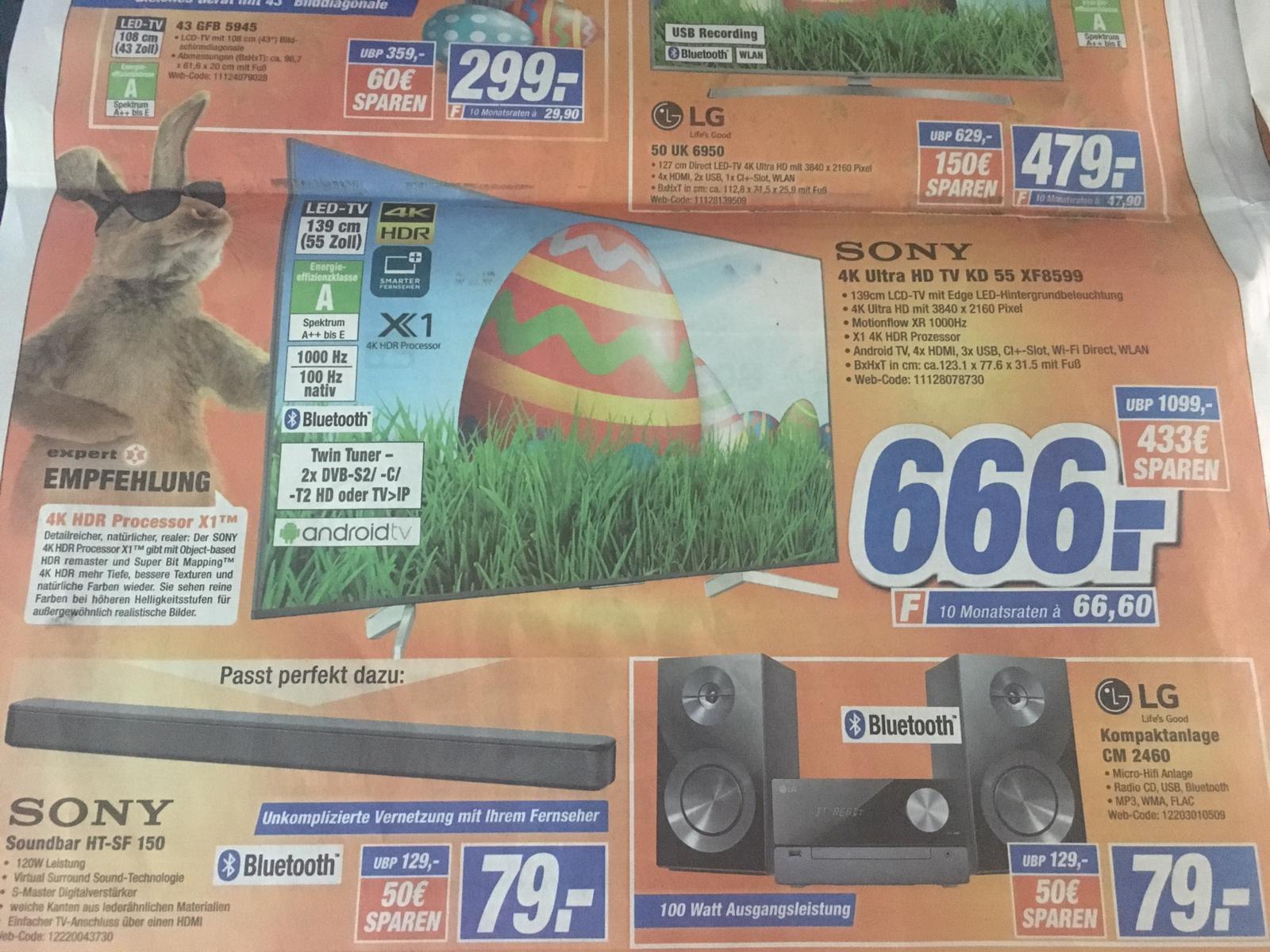 "[Lokal Bielefeld Expert] Sony KD-55XF8599, 55"", 4K, 100Hz nativ, HDR10"