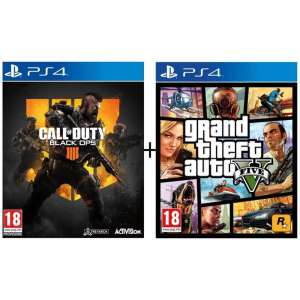 Call of Duty: Black Ops 4 + Grand Theft Auto 5 (PS4) für 48,98 € (Cdiscount)