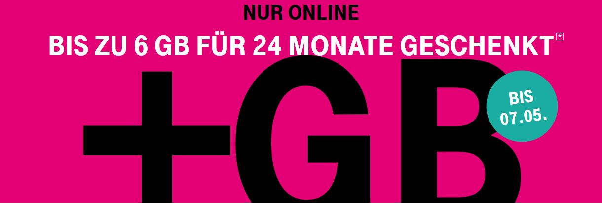 Original T-Mobile bis zu 6GB Extra Datenvolumen über volle Laufzeit Magenta Mobil Telekom
