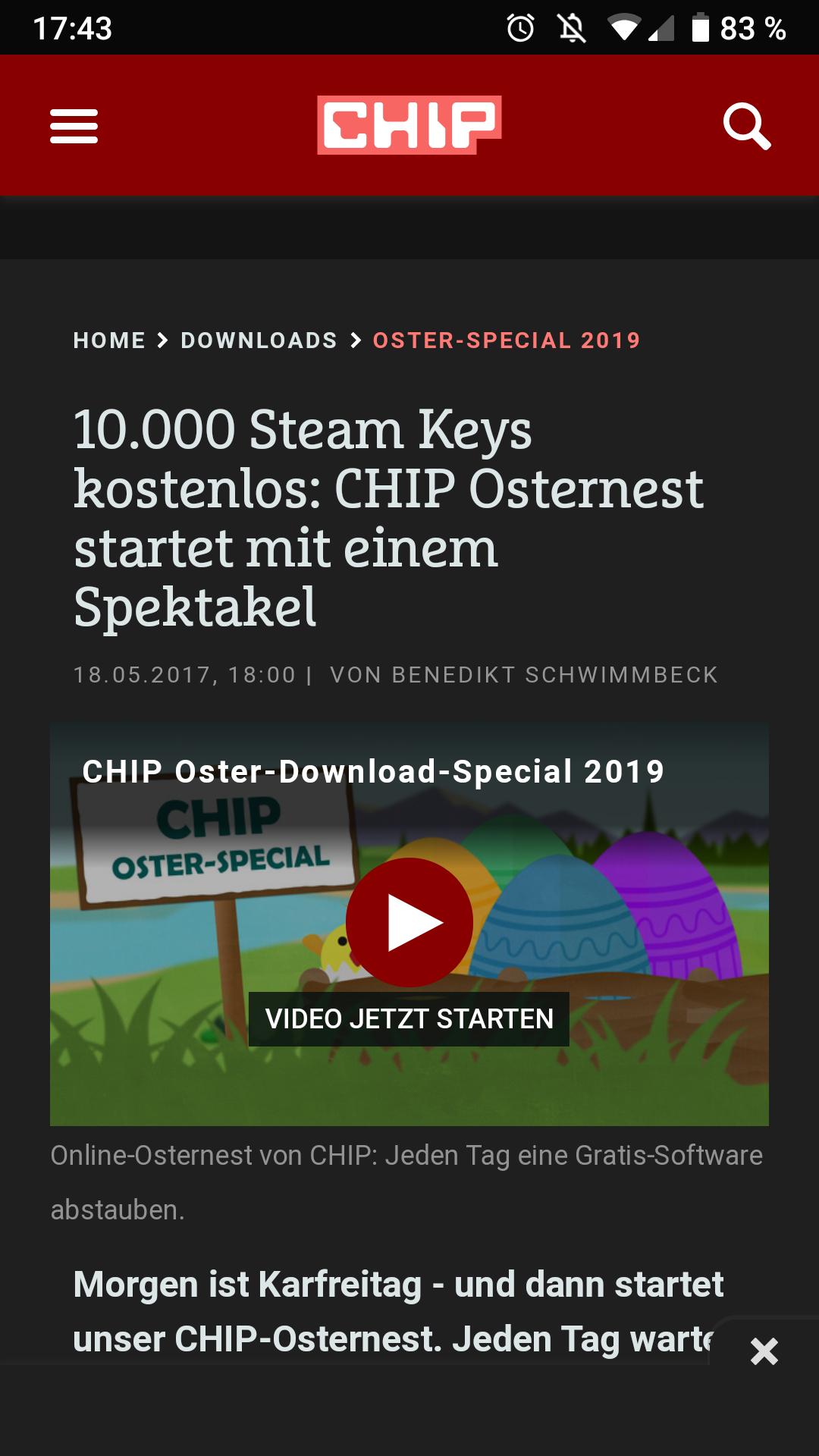 10000 Steam Keys bei Chip.