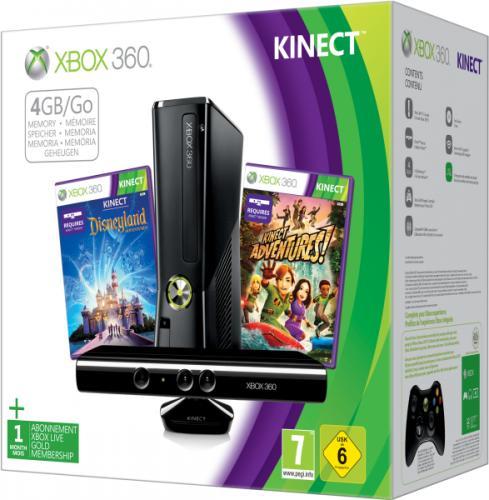 [lokal - Niederlande MM / Grenzgänger ] Microsoft Xbox 360 4 GB + KINECT + Adventures + Disneyland