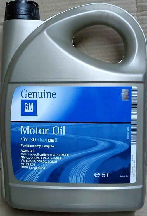 GM Opel Motoröl Dexos2 5W30 15Liter