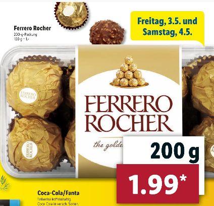 Ferrero Rocher-Die Goldene Praline in der 200g Box für 1,99€