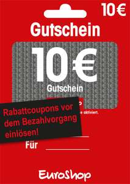 EuroShop 10€ Gutschein für 8€