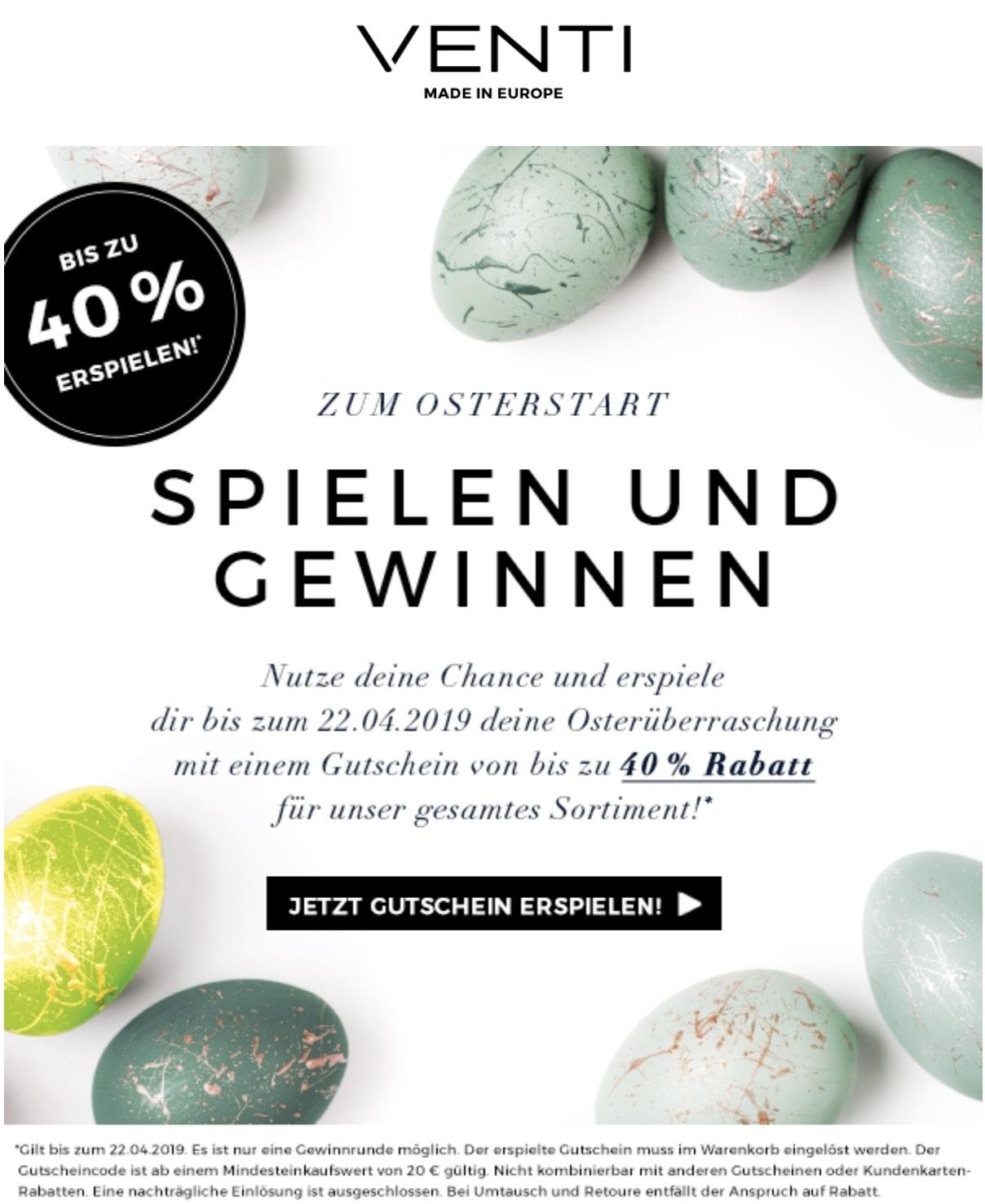 Venti.com Hemden bis 40% Rabatt (MBW 20€)