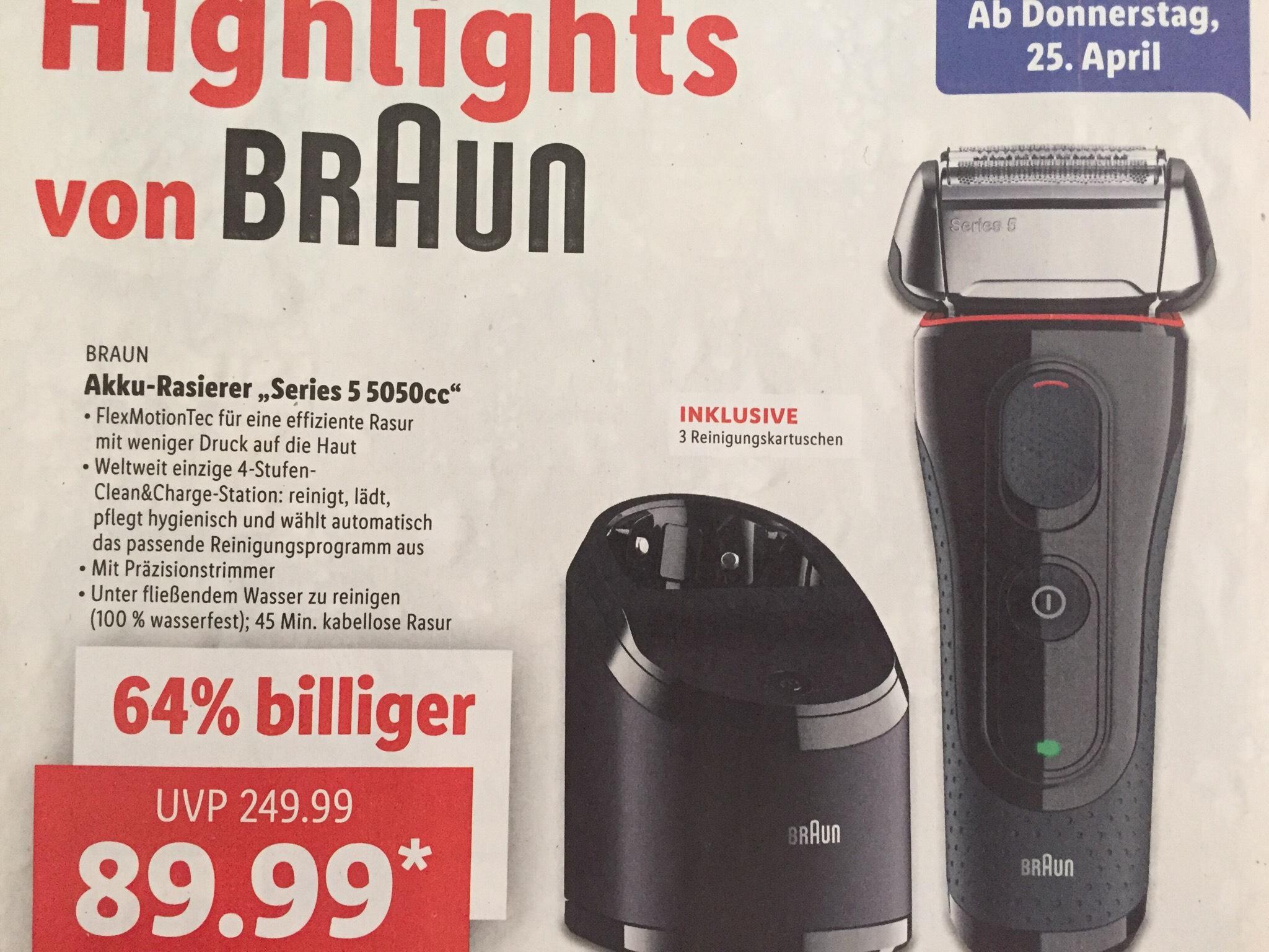 """Braun """"Series 5"""" 5050cc inkl. Reinigungsstation+3 Kartuschen"""