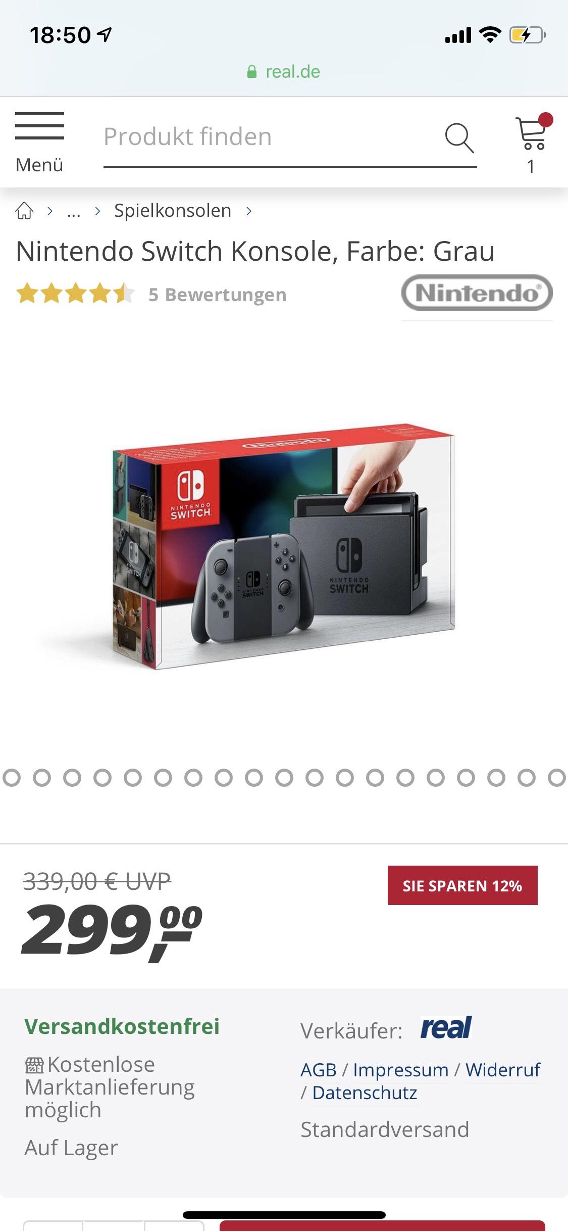 real B-Ware Nintendo Switch