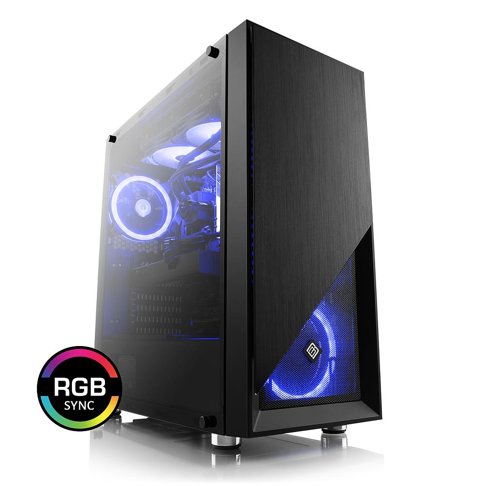 CSL Gaming PC Intel i7-9700K, RTX 2070, 16GB DDR4-2666, Z390, 240 AIO WaKü, 500GB SSD, 2TB HDD (mit RTX 2080 =1643€ / RTX 2080 Ti =2103€)