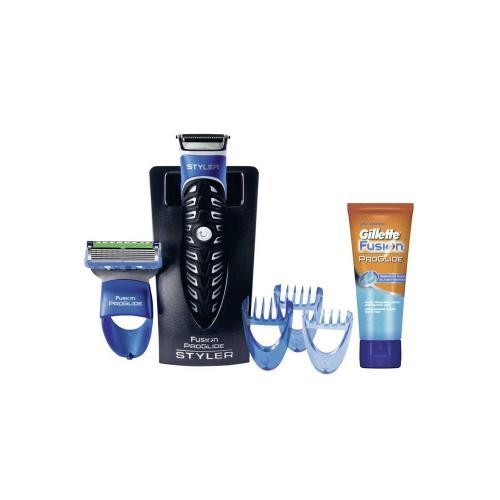 Gillette Fusion ProGlide Styler Geschenkset - Transparentes Rasiergel Gratis 5€ gespart