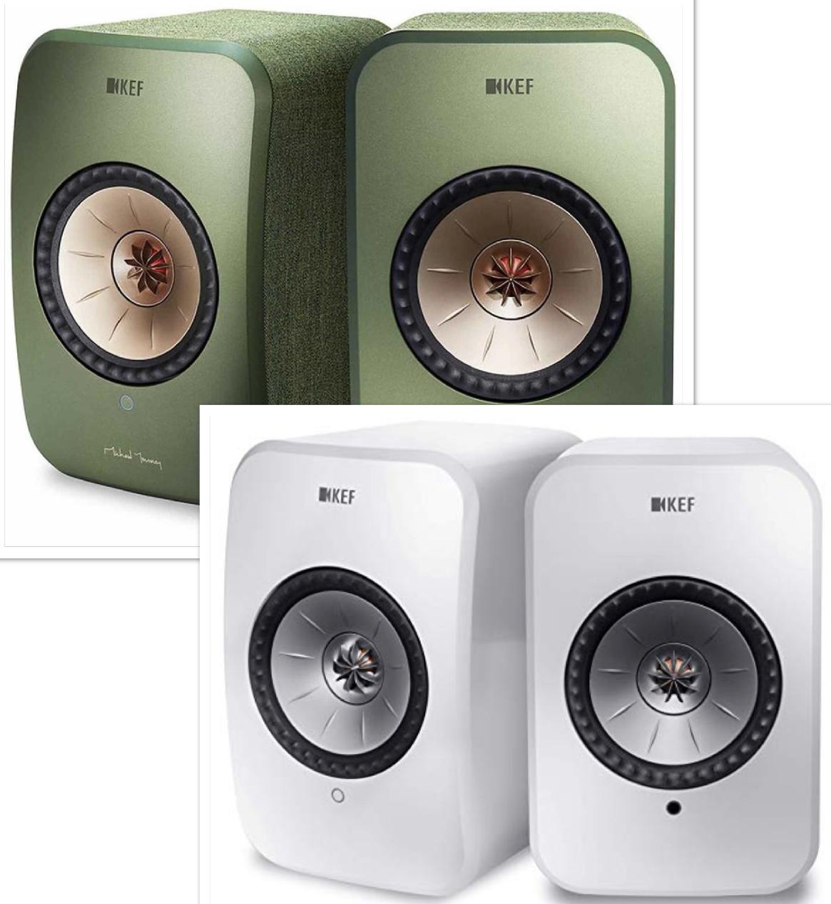 KEF LSX WLAN Lautsprecher Aktivboxen mit Bluetooth Multiroom Airplay 2 Spotify green oder white für 853,17€ inkl. Versand direkt von Amazon