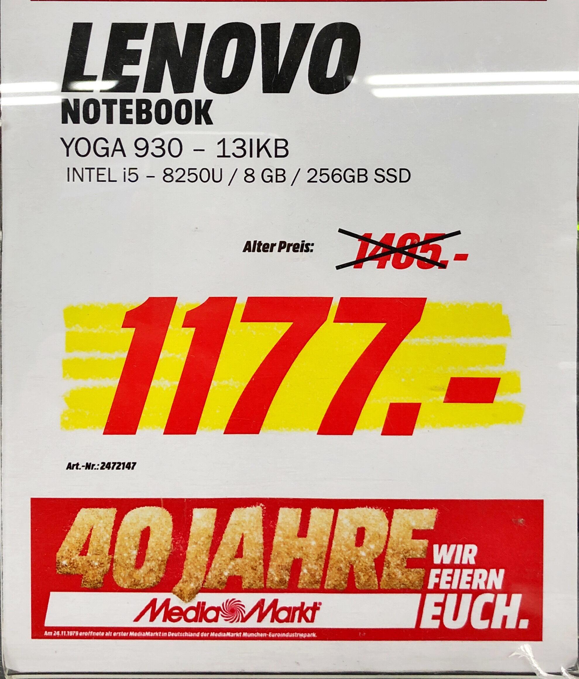 Lenovo Yoga C930 13IKB i5 8GB 256 SSD [Lokal Köln-Kalk]