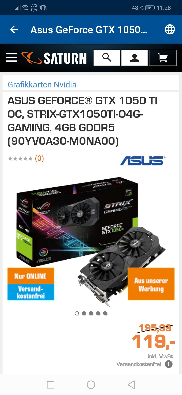 ASUS GEFORCE® GTX 1050 TI OC, STRIX