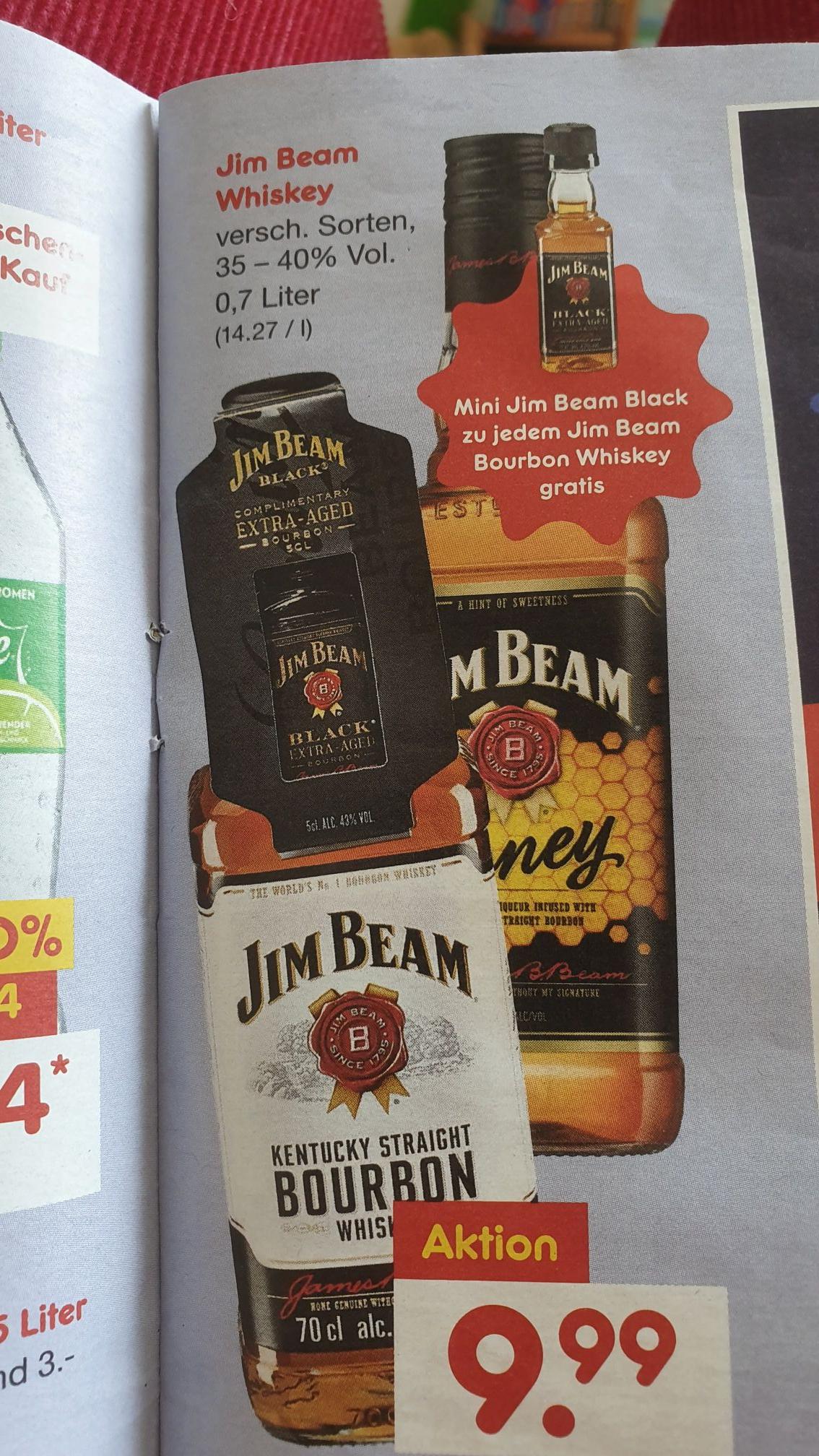 [Netto o.H.] Jim Beam Honey / Bourbon plus gratis Zugabe Black