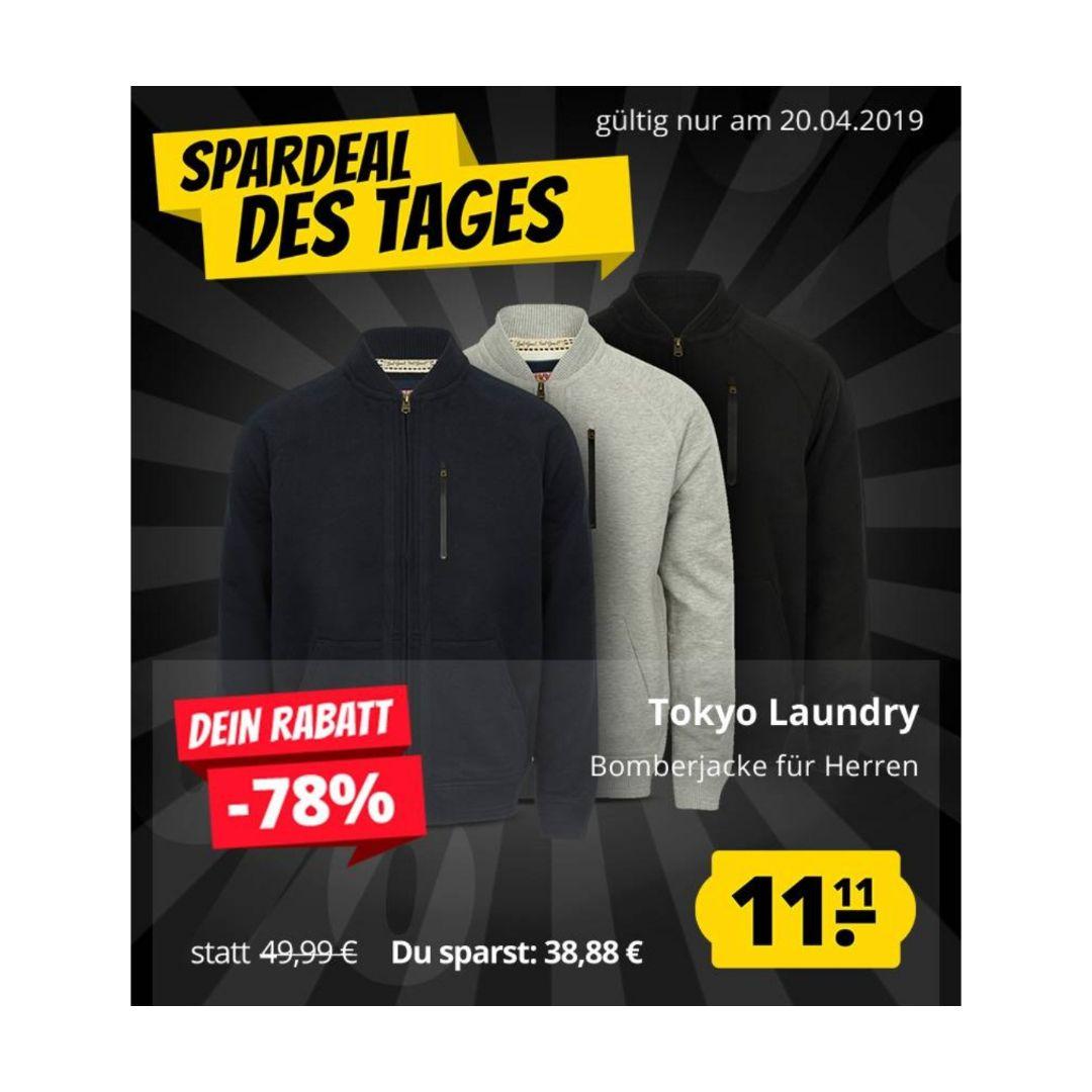 Tokyo Laundry Naple Pine Jacket Herren Bomber Jacke für 15,06€ (statt 26€)
