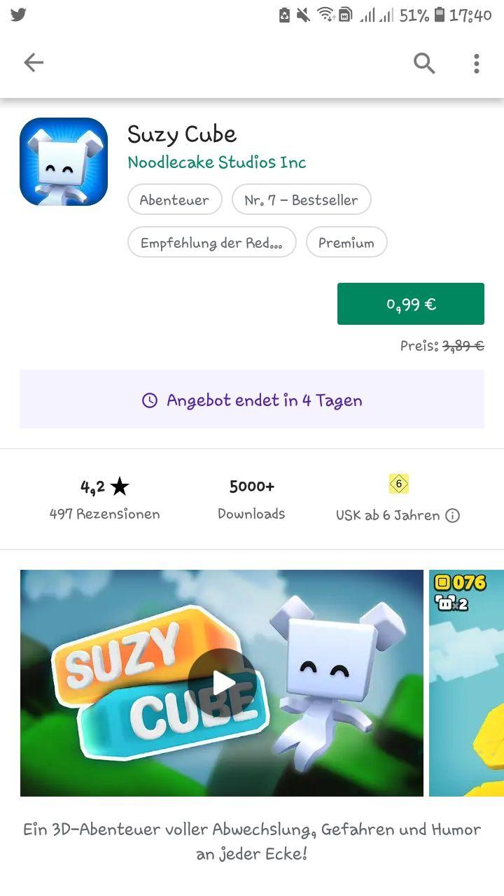 """Suzy Cube""-App reduziert"