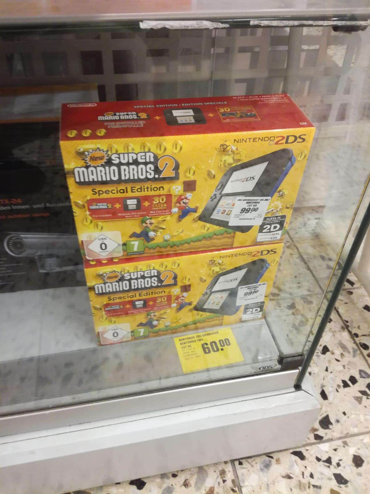 [LOKAL] [Rewe Höchberg] Nintendo 2DS schwarz-blau + New Super Mario Bros. 2