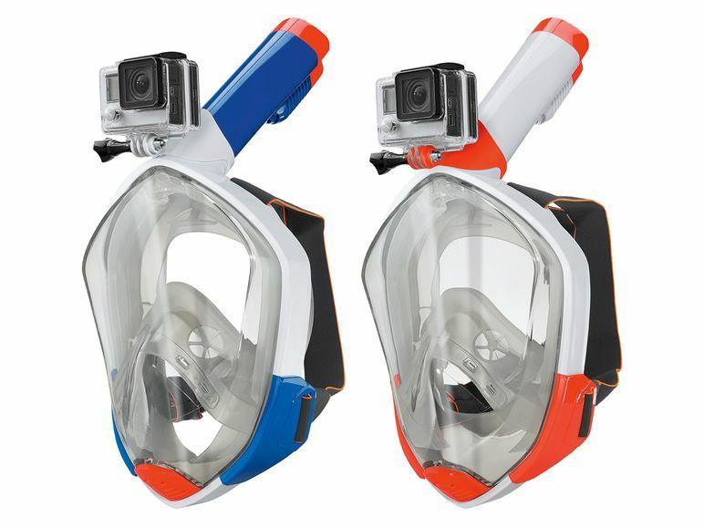 Schnorchelmaske in verschiedenen Größen mit Kamerahalterung wie GoPro & Co. ab 20.05. auch bei Kaufland