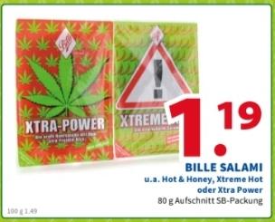 * 2 Brüder von Venlo * Bille Salami verschiedene Sorten wie Hot&Honey,Xtreme Hot,Xtra Power ( Lokal )