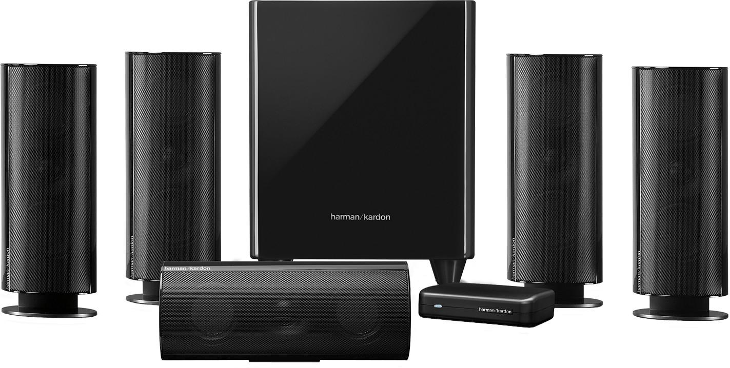 HARMAN KARDON HKTS 65 BQ Lautsprechersystem, Schwarz glänzend für 399,-€