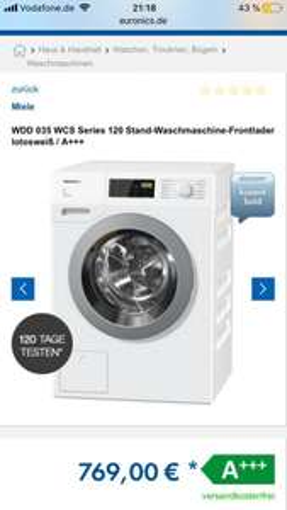 Miele WDD 035 WCS Waschmaschine A+++