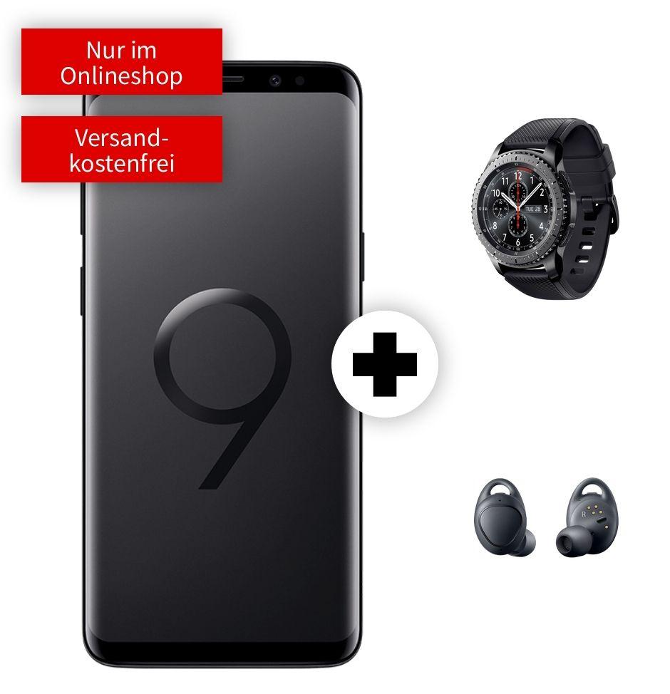 Samsung Galaxy S9   Watch Gear S3 Frontier   Kopfhörer IconX im MD Vodafone (2GB LTE, Allnet) mtl. 26,99€ und einmalig 79€