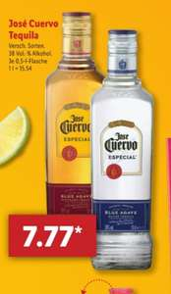 José Cuervo Tequila Especial Gold oder Silber 0,5l bei [Lidl] ab 23.04.