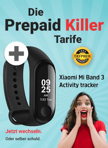 Mobilcom O2 Free M (10GB LTE, Allnet/SMS) mtl. 14,99€ dazu ohne Zuzahlung Xiaomi Mi Band 3 | Huawei Mate 20 Lite 99,99€ | P Smart 79,99€